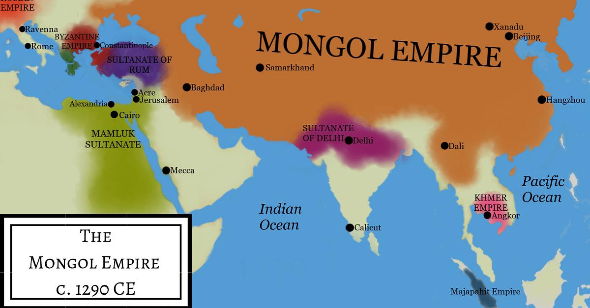 Mongol Empire Under Kublai Khan