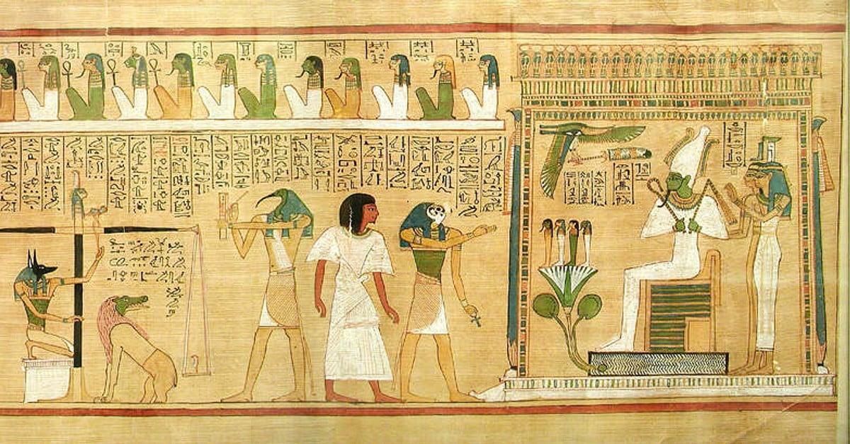 Man egyptian pleasing an Ancient Egyptian