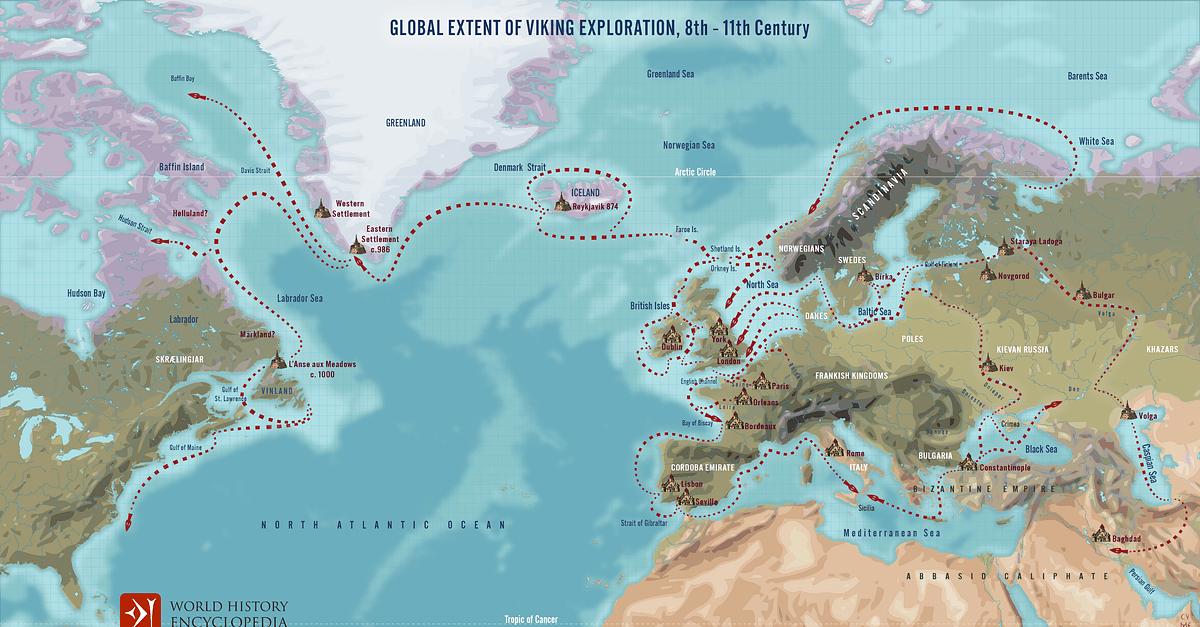 Global Extent of Viking Exploration