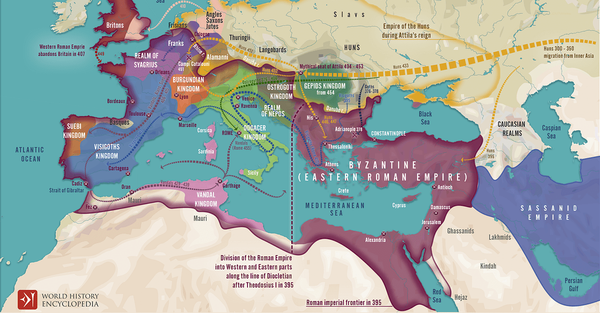 Migration Period in Europe During the 4th & 5th Century