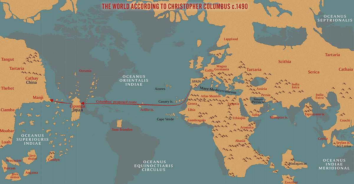 The World According to Columbus c. 1490