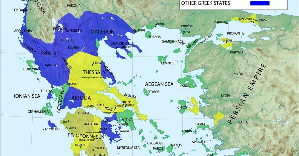 thessaly ancient greece map Ancient Greece Ancient History Encyclopedia