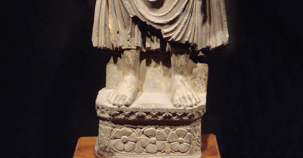 Buddha Statue Gandhara Illustration Ancient History Encyclopedia