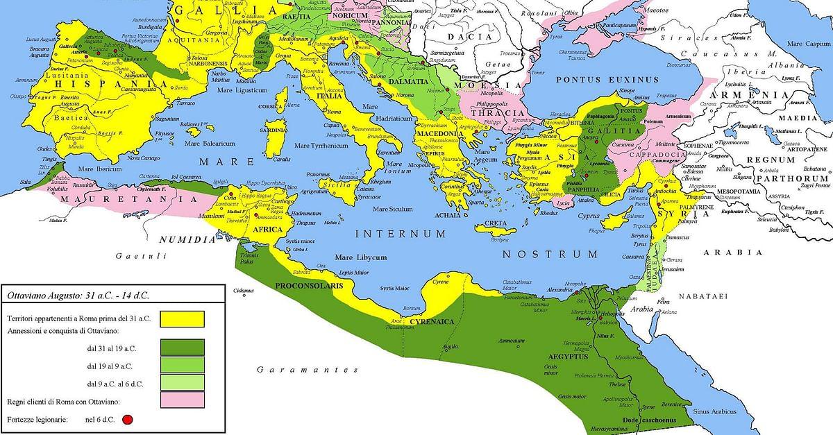 roman empire augustus map Roman Empire Under Augustus Illustration Ancient History roman empire augustus map