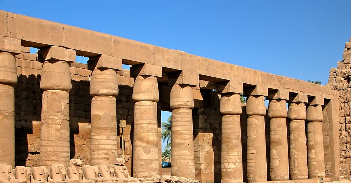 Giza Egyptian Statues Ancient Egypt NEW POSTER Luxor Temple Details