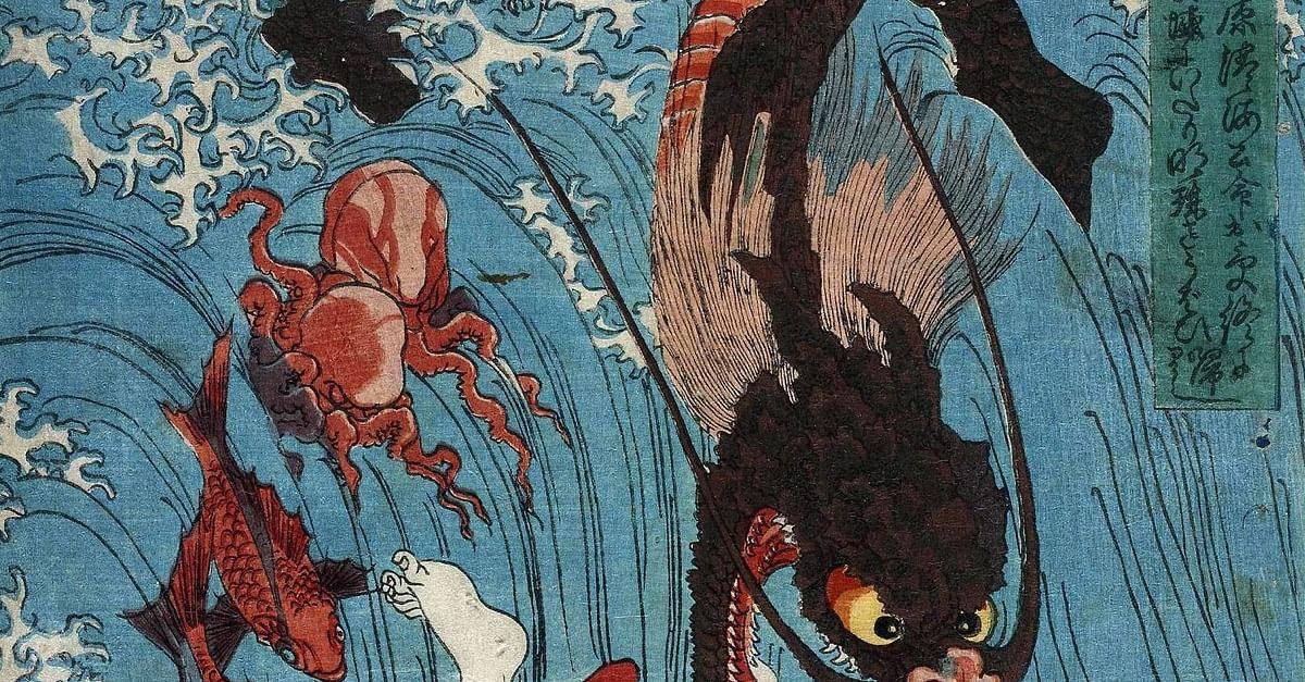 Good Sea God Dragon Talisman East Asian Dragon Amulet Japanese Dragon Ryujin Pendant Dragon God \u9f8d\u795e Jewelry from Japanese Mythology