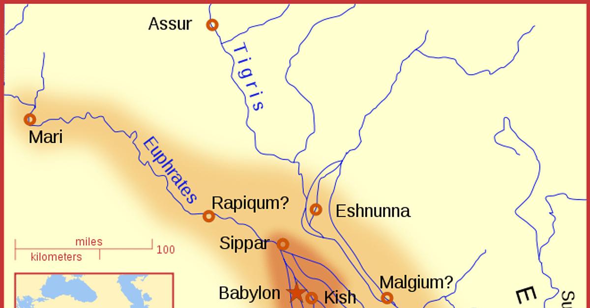 Babylon At The Time Of Hammurabi Illustration Ancient History Encyclopedia