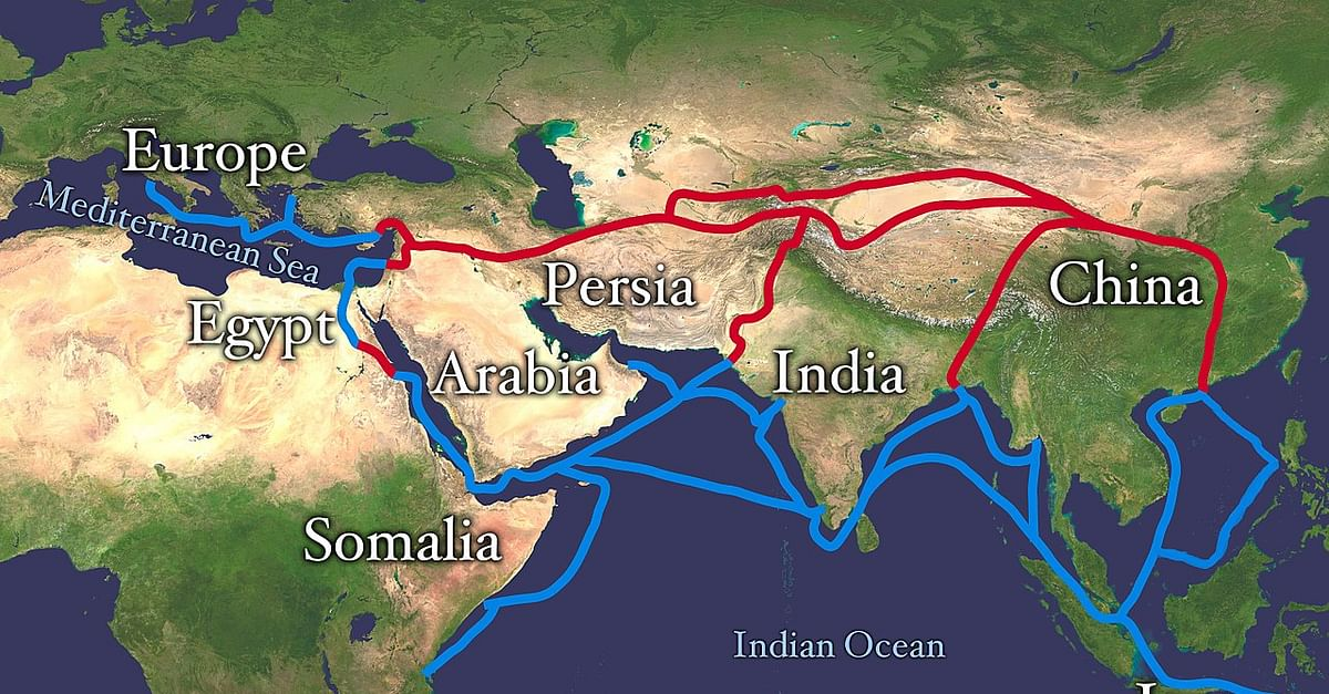 map of silk route Silk Road Ancient History Encyclopedia map of silk route