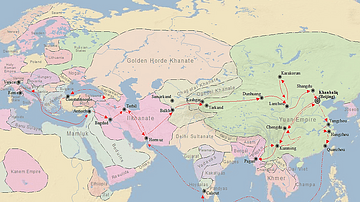 Map of Marco Polo's Travels