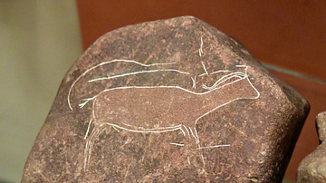 Rock Carved with an Animal Image from Dhuwayla