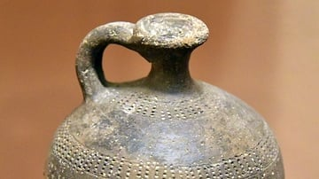 Black Pottery Juglet from Jordan