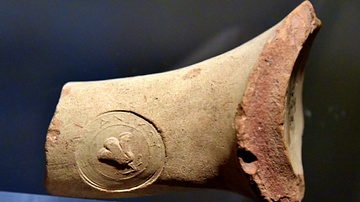 Stamped Rhodesian Amphora Handle from Jordan