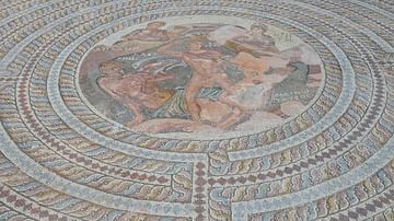 Theseus and the Minotaur Mosaic in Paphos, Cyprus
