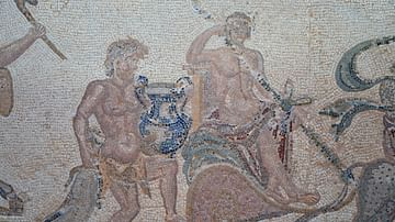 Triumph of Dionysos Mosaic in Paphos, Cyprus