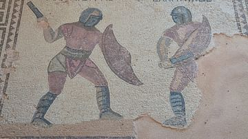 Gladiator Mosaic from Kourion, Cyprus