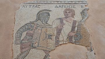 Mosaic with Gladiators and Referee