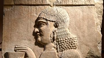 Assyrian Eunuch from Khorsabad at the Iraq Museum