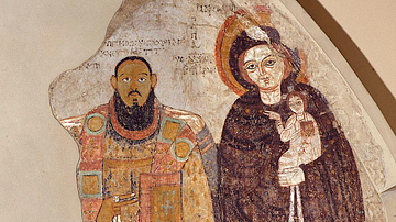 Bishop Marianos & Mary, Faras Cathedral
