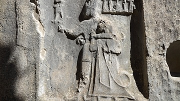Hittite relief of the God Sharruma and King Tudhaliya