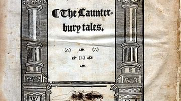 Title Page of Canterbury Tales