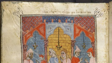 Depiction of a Seder from the