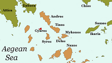 Map of Gyaros