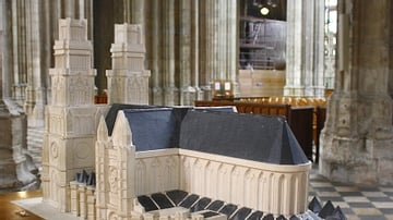 Model of Orleans Cathedral [Rear View]