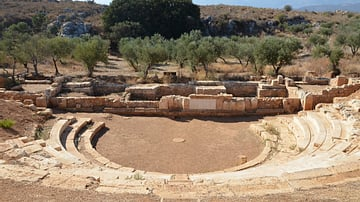 Ancient Theatre at Aptera, Crete