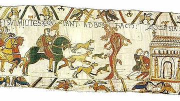 Harold Godwinson on a Hunt, Bayeux Tapestry