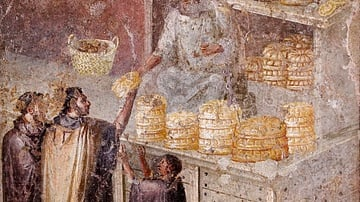 Sale of Bread Fresco, Pompeii