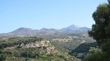 View of Mount Ida from Eleutherna, Crete