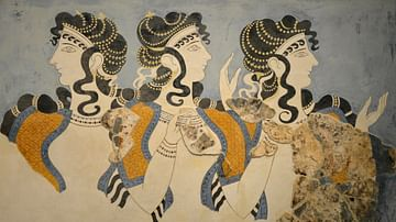 Minoan 'Ladies in Blue' Fresco