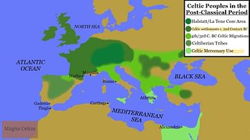 Map of Celtic Peoples in the Post-Classical Period