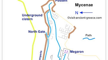 Plan of Mycenae