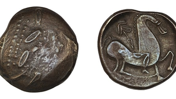 Celtic Coin with Abstracted Horse