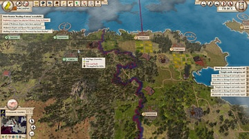 Campaign Map in Aggressors: Ancient Rome