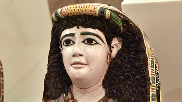 Stucco Mummy Mask of a Woman