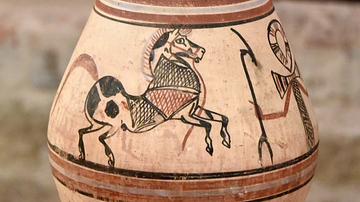 Egyptian Vessel with Galloping Horses