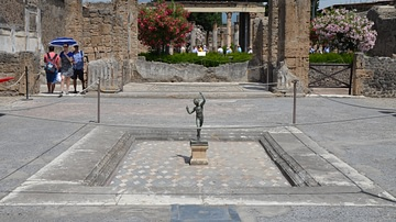 The Atrium of the House of the Faun in Pompeii