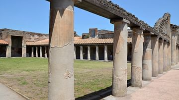 The Palaestra of the Stabian Baths in Pompeii