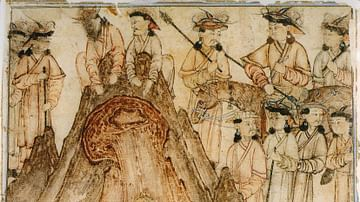 Mongol Warriors in Deel Robes