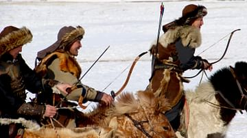 Traditional Mongol Hunters