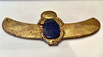 Gold Winged Scarab