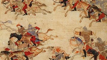 Mongol Warriors in Battle