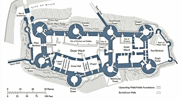 Plan of Conwy Castle