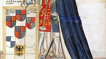 Edward the Black Prince as a Knight of the Garter