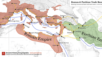 Map of Roman & Parthian Trade Routes