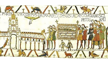 Funeral of Edward the Confessor, Bayeux Tapestry