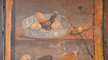 Still Life Fresco from the House of the Deer in Herculaneum