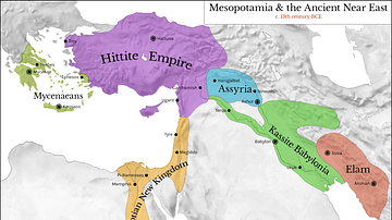 Map of Mesopotamia and the Ancient Near East, c. 1300 BCE